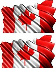 2-Set Canada Flag Canadian Trailer Boat Car MOTORCYCLE Truck Sticker Decals Wrap