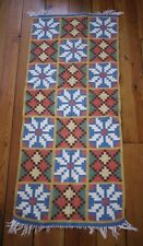 Vintage 100% Wool Geometric Persian Turkish Kilim Prayer Rug Runner Wall Hanging