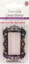 DOVECRAFT SMALL CLEAR CLING STAMPS - DCCS028 - ORNATE DECORATIVE FRAME