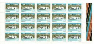 Stamps 1979 Australia 20c Ferry marginal block of 20 including autotrons, MUH