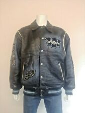 AVIREX 1975 New York State Champions Heavy Quality Leather Varsity Jacket Size L