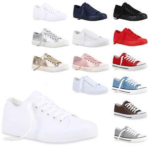 Damen Herren Sneakers Low Canvas Schuhe Turnschuhe Freizeit 812509 Trendy Neu