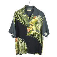 Tommy Bahama Mens Camp Button Shirt Size L Multicolor 100% Silk Short Sleeve