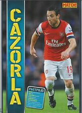 MATCH!-POSTER 2013/14-ARSENAL & SPAIN-SANTI CAZORLA-PLAYER OF THE YEAR