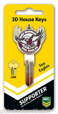 NRL Manly Warringah Sea Eagles 3D House Key LW4/C4 Key Blank