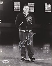 JIM SKINNER Signed RED WINGS 1955 CUP NHL 8x10 - JSA