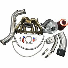 Turbo Kit Manifold Downpipe Wastegate Oil For 1JZGTE 1JZ-GTE GS300 SC300 Supra