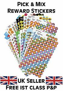 School Teacher Reward Stickers Pick & Mix - Smiles, Stars, Sparkly, Foil & More