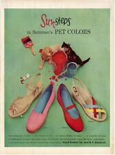 1954 Hood Rubber Co. PRINT AD Sun Steps 4 styles Fashion Shoes Cute Vintage Ad!