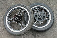 KAWASAKI GPZ1100 GPZ 1100 UNITRACK A3 FRONT AND REAR WHEELS WITH GOOD TYRES