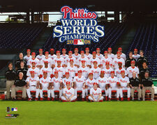 2008 PHILADELPHIA PHILLIES Team Roster World Series Champions Glossy 8x10 Photo