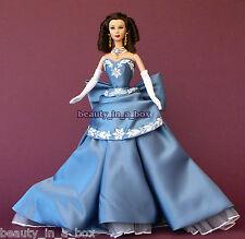 "Scarlett O'Hara Vivien Leigh Barbie Doll OOAK Celebrity Redress Wedgwood Gown """