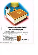 PUBLICITE ADVERTISING  1972   LE PETIT ROBERT   dictionnaire
