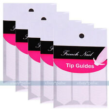 5 Pack Nail Art French Guide Smile Striping Tape Decoration Line Liner Stickers