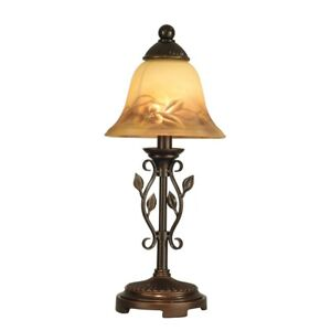 Dale Tiffany Leaf Vine Hand Painted Mini Lamp - TA80540