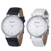 Deluxe Geneva Crocodile Leather Strap Quartz Unisex Women Business Wrist Watch