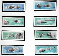 s22129) HUNGARY 1966 MNH** Nuovi** Space flights 8v IMPERFORATED