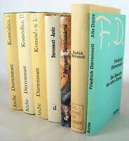 7x Dürrenmatt  im  Bücherpaket Sammlung - Kriminalromane Dramen Komödien
