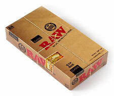 1 box RAW CLASSIC Natural UNREFINED rolling paper size 1 1/4 - 24 packs