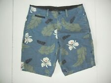 GAP Blue Floral HAWAIIAN CHINO SHORTS Summer Beach Hawaii Vacation Sz Men's 30