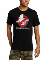Adult Men's Ghostbusters Faded Logo To Go Glow in the Dark Black T-shirt Tee