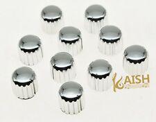 10pcs Chrome Plastic Guitar AMP Amplifier Knobs Knurled Pointer Knobs 18x17(mm)