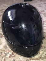 ARAI ADULT XS HELMET FULL-FACE QUANTUM/e SNELL DOT SOLID BLACK COOL VERY NICE!