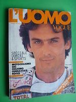 L'UOMO VOGUE magazine Italia Ottobre 1982 October Franco Uncini ALDO FALLAI 123