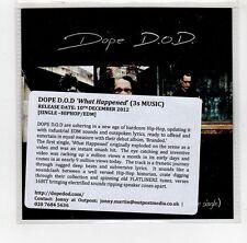 (GI320) Dope D.O.D, What Happened - 2012 DJ CD