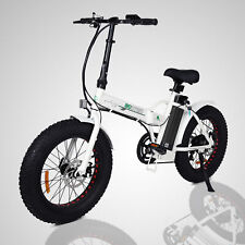 "ECOTRIC Folding 20"" Electric e-Bike Beach Snow Bicycle Moped Removable Battery"