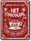 Christmas Decor Signs Farmhouse Decorative Red Hot Cocoa Vintage Wall Decoration