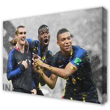 FRANCE World Cup 2018 GRIEZMANN, POGBA & MBAPPE ~ Canvas Print ~ 5 Sizes
