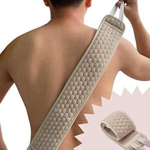 Am _ Dusche Handtuch Rücken Peeling Riemen Badezimmer Spa Körper Waschen Putz-