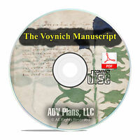 The Voynich Manuscript, 1400's Unsolved Code Cryptography Book PDF CD F12