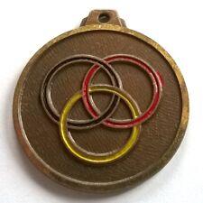 Médaille sports anneaux olympiques, diamètre: 32 mm, voir photos.