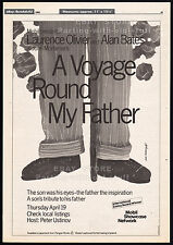 A VOYAGE ROUND MY FATHER__Original 1984 Trade Print AD/ poster__LAURENCE OLIVIER