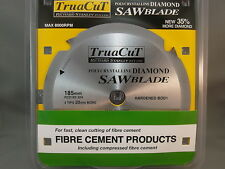 FIBRE CEMENT 185mm Diamond SAW BLADE - Cuts Hardie Products