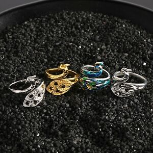 Women Vintage Adjustable Ring Silver Peacock Ring Opening Ring Girls Jewellery
