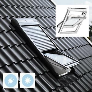 Dachfenster Velux Kunststoff Thermo Schwingfenster GGU GLU  Solar Rollladen SSL