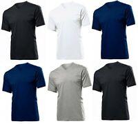 Mens Plain T-shirt Mens Cotton V NECK T-Shirts Tee Top Longline Muscle M-2XL