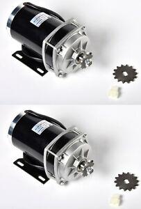 2x 14T 1000W 48V DC electric motor f Quad Trike GoKart ZY1020ZXF gear reduction