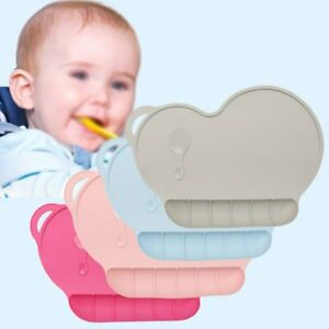 Baby Kids Food Catching Silicone Plate Sucker Placemat Dining Table Mat Approved