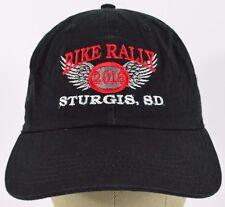 Black Sturgis SD Bike Rally 2016 embroidered baseball hat cap adjustable strap.