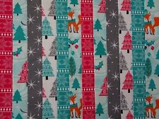 24 JELLY ROLL STRIPS 100% COTTON PATCHWORK FABRIC WINTER WONDERLAND 22 INCH LONG