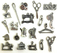 SEWING CHARMS - Singer Sewing Machine Scissors Buttons & More - MEGA LOT OF 20