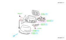Genuine OEM Subaru Legacy & Outback RH Mirror Heated 2010 -  2014  (91039AJ02A)