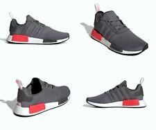 Adidas NMD R1 Shoes Grey Four / Shock Red Boost Mens Size 12 US NIB BD7730