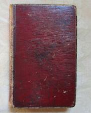 Book of Common Prayer, 1793, red morocco binding