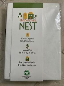 Organic Fitted Crib Sheet - GOTS Certified -100% Organic Cotton- Jersey Knit ...