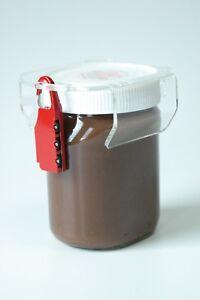 chocosafe®, nutellaschloss, transparentes nutella Schloss - rotes Zahlenschloss